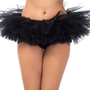 Leg Avenue Black Tulle Halloween Tutu